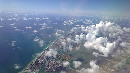 Airplane View over Florida from AA3468