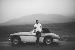 Groom & Car (Dylan-K) Tags: road wedding portrait white black skye 35mm landscape groom nikon f14 nikkor cinematic isle elopement d600