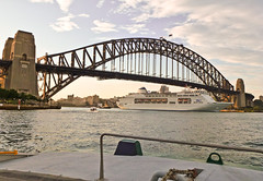 """Not hung up on """"The Coat-hanger""""....... P&O on the go! (missnoma) Tags: cruise water ferry lady ship harbour sydney australia vessel icon nsw po tug sydneyharbour liner australianicon thecoathanger parramattaferry pacificpearl 22082012"""