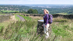 20130902_SRW_0006 Carol at view point at top of Porter Clough - Sheffield (paul_slp5252) Tags: sheffield viewpoint southyorkshire porterclough