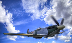 WWII Spitfire (Marc Russo (Australia)) Tags: england plane fire fly fight fighter attack spit marc ww2 british spitfire bomb russo