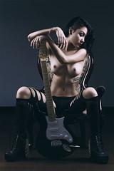 Gina rocker (Cesilio) Tags: sexy art girl nude photo smoke halfnaked cesilio