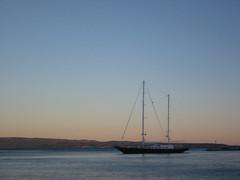 Anchored in Split (David J. Greer) Tags: ocean blue sunset sea sky water evening bay harbor still mediterranean harbour dusk croatia calm anchor mast split masts adriatic anchored