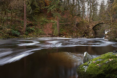 Misty Autumn Morning (Keith - Glasgow) Tags: autumn trees forest woodland river scotland landscapes woods unitedkingdom perthshire dunkeld thehermitage riverbraan