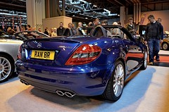 Mercedes-Benz SLK55 AMG (DaveJC90) Tags: show camera new old light colour detail building slr classic cars car japan modern digital america sedan japanese birmingham nikon shiny europe european colours shine estate bright display convertible sharp event chrome american crop british inside motor hatch saloon coupe nec hatchback midlands cabriolet croped sharpness classicmotorshow d5100