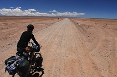 The first day out of Uyuni on the road to San Vicente