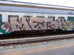 DSCN1947 (en-ri) Tags: train writing torino graffiti grigio crew mesk