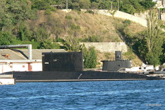 Севастополь, поездка на катере по Севастопольской бухте, подводная лодка ВМР РФ Алроса