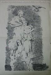 Eugenio Prati Pastori in onore della morte di G. Segantini 1900 litografia stampata su Strenna dell'Alto-Adige