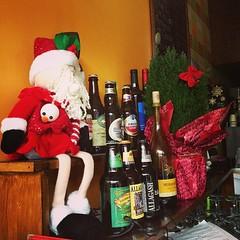 Christmas at The Path Cafe - Greenwich Village (Sylvia Syracuse (Gothamiste)) Tags: christmas newyorkcity beer newyorknewyork greenwichvillage newyorkchristmas santaclausdoll thepathcafe christmas2013