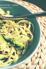 Zucchini-Lemon-Spaghetti (Coffeetarian) Tags: food green pasta zuccini nudeln