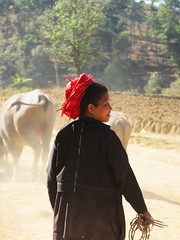 A Pa-O woman, Kalaw, Shan state, Myanmar (suwida_b1986) Tags: myanmar pao shanstate chilies kalaw