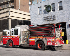 """E225e FDNY """"Two and a Quarter"""" Engine 225, New Lots, Brooklyn, New York City (jag9889) Tags: county city nyc house ny newyork building tower station architecture brooklyn truck fire engine east company kings borough ladder firehouse fdny 39 department firefighters 107 fearless seagrave 225 faithful 2014 bravest battalion newlots twoandaquarter engine225 ladder107 battalion39 e225 jag9889 20140117"""