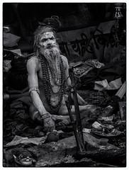 Kolkata 2014 (1 van 1)-20 (RieksKamphuis) Tags: travel people india white black monochrome festival prime social olympus holy olympuspen kolkata calcutta lightroom sadu olympuspenep3 olympusomd olympusomdem5