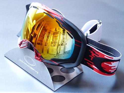 87eeef0529 Oakley Splice® Snow Hyperdrive Red-Black w Fire Iridium