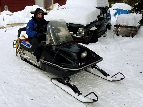 Motoneige, WWOOFING, St Guillaume Nord, Québec