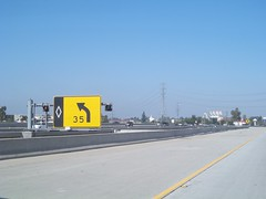 Northbound IH 5 Carpool Exit to Disneyland (FreewayDan) Tags: road losangeles highway freeway southerncalifornia orangecounty southland interstate5