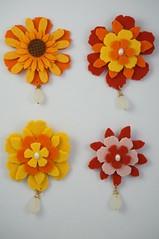 butterfly_003 - Spilla lana cotta 3D (Gioie di Lillò) Tags: lana beads knitting pin embroidery brooch crochet jewelry felt fabric feltro fiori cotta spilla stoffa perline uncinetto