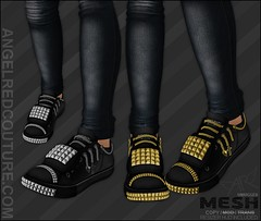 !!NEW!! AngelRED - Mesh Lorde Skate Shoes (AngelRED Couture) Tags: world life urban hot fashion skull chains 3d clothing lab shoes punk cross maya mesh heather character avatar autodesk linden emo sneakers sl secondlife virtual springs skate rig da hero labs skateboard second blender vans skater hiphop arkansas hip hop product ethnic anti deviantart etnies seda spikes ll lexi crawford rigging studs skateboarder rigged mmorpg mmo benton zbrush lindens volc mudbox hiner zelin bloodapplekiss