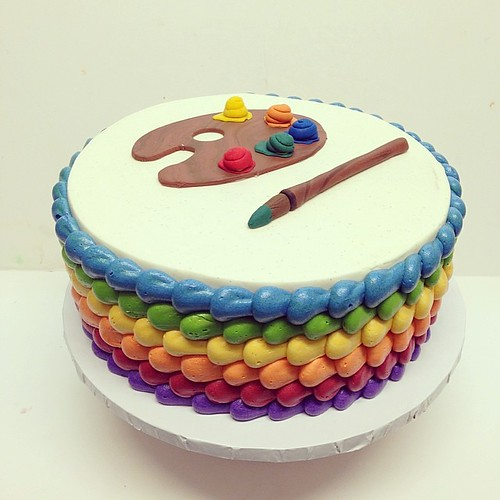 Birthday Cake Artist Palette Image Inspiration of Cake and