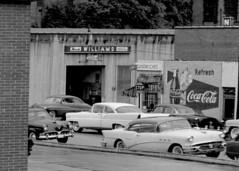 Street scene 1957 (Railroad Jack) Tags: