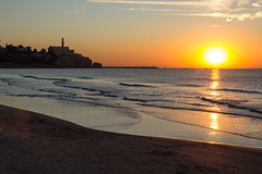 Sunset in Tel Aviv (Ivan Parenti) Tags: sunset beach colors israel telaviv tel aviv jaffa yafo