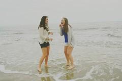 (makenziekingg) Tags: ocean girls friends beach happy southcarolina teens laugh laughter atlanticocean hiltonhead besties