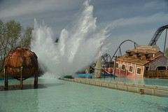 The 45ft Splash (CoasterMadMatt) Tags: pictures park uk greatbritain england english water out season photography march amusement spring nikon shoot day ride photos unitedkingdom britain united great group parks wave kingdom surrey photographs thorpe merlin gb theme amusementpark british rides tidal chute themepark hopkins attraction dayout chertsey thorpepark tidalwave waterride 2014 nikond3200 d3200 shootthechute coastermadmatt march2014 2014season coastermadmattphotography thorpeparkresort hopkinsrides