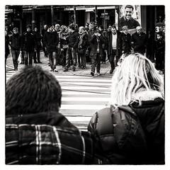 ready to go (Gerard Koopen) Tags: street bw waiting belgium belgie streetphotography antwerp antwerpen readytogo straatfotografie