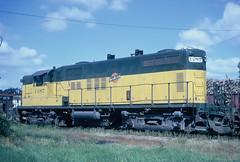 Marshfield, WI date and photographer, unknown (Rich Peters- foosqust) Tags: railroad train marshfield cnw pulpwood