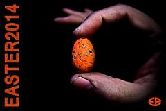 ... EASTER2014 (*melkor*) Tags: light macro art colors dark easter colours hand darkness egg experiment minimal 20mm conceptual obscurity melkor littleegg freepostcard trashbit easter2014