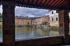 Bagno Vignoni (Fil.ippo) Tags: panorama rural town nikon tuscany toscana valdorcia hdr filippo hotsprings terme bagnovignoni paese d7000 filippobianchi