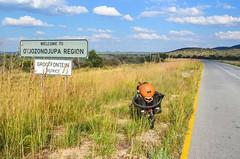 Day562-Bike-140519 (jbdodane) Tags: africa bicycle bikeseries cycletouring cycling cyclotourisme day562 grootfontein namibia otjozondjupa road sign velo freewheelycom jbcyclingafrica
