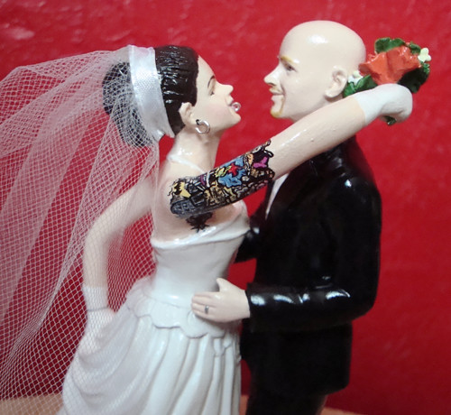 wedding cake toppers blonde bride bald groom the world s best photos of bald and piercings flickr 26401