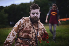 2.8 Hours Later (Mark Liddell) Tags: man game night john walking dead army scotland chains high blood missing arm bokeh vampire zombie glasgow tag evil scottish tshirt off creepy puzzle camouflage gore stump horror terror undead hours chopped buffy sunnydale monsters 28 slayer bloody limbs zombies walkers btvs slingshot later fatigues residentevil resident tig walkingdead 28hourslater
