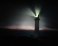 You shone a light so brightly (BlueberryAsh) Tags: capenelson fog lighthouse nightphotography portland grief kight tribute