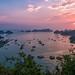 Sunset view on Cat Ba Island
