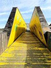 Luchtsingel bridge (Un tocco di zenzero) Tags: rotterdam rooterdamfoodieguide myrotterdam visitholland visitrotterdam