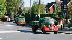 Bedford & Austin Cheshire Run 2007_2 (Frank Hilton.) Tags: classic truck lorry eight wheel maudsley aec atkinson albion leyalnd bristol austin outside heavy haulage crane 8 axle