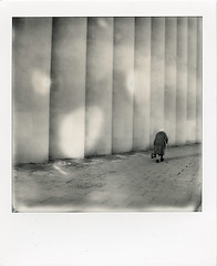 (artur sikora) Tags: polaroid poland sx70 architecture architecturalphotography witoldcęckiewicz artursikora modernism krakow cinema kinokijow kijow street impossibleproject bw square