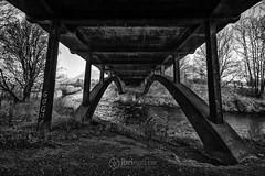 Devon and Dumyat - 02 - 14 Feb 2017.jpg (ibriphotos) Tags: dumyat ochilhills riverdevon bridge menstrieroad bnw clackmannanshire monomonochromatic ndgrad achromatic blackandwhite menstrie nd4