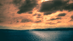Burning Fjord (tinostoetzner) Tags: oslo norway sky clouds nature travel sea ocean ship boat landscape