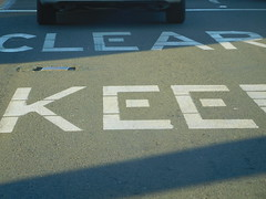 February 28: Clear Kee (earthdog) Tags: 2017 nikoncoolpixs7000 nikon coolpix s7000 word text outcarwindow outwindow road blacktop street project365 3652017