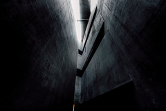 Diablo (Panda1339) Tags: berlin lookup shapes jewishmuseum germany architecture nikondf 1424g abstract light ber roof darkedit concrete