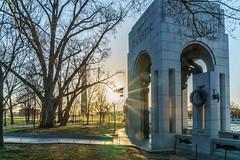 Morning at the WWII Memorial (erikcoxphotography) Tags: ww2memorial wwiimemorial washingtondc washingtonmonument intothesun morning
