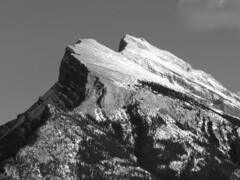 Mount Rundle, afternoon (reidcrosby) Tags: mount rundle banff alberta canada blackandwhite