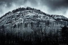 Ice-Covered Adirondacks (CoreysPics) Tags: adirondacks finepix fuji fujifilm niksoftware silverefexproii winter x100s blackandwhite landscape mountains snow