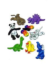 Simplicity 8472 toy pattern (FindCraftyPatterns) Tags: simplicity8472 carlareiss beanbag animaltoy dinosaur panda tiger cat duck butterfly elephant stegosaurus brontosaurus uncut