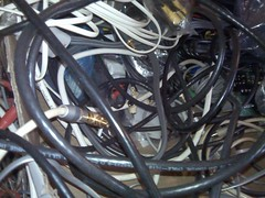 Wired 02 (nanabin) Tags: wires computers tech tangles moderntimes busybusybusy data connected