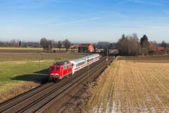 DB 115 261 - Tallensen-Echtorf (Pau Sommerfeld Acebrón) Tags: dbfernverkehr db deutschebahn baureihe115 115 115261 110 kastenlok kasten110 einheitslok kasten10er pbzd2453 hamburglangenfelde dortmundbbf überführung personenzugfürbesonderezwecke pbz 2453 achum tallensenechtorf bückeburg mindenwestf minden niedersachsen de deutschland 2017 zug züge eisenbahn railway train icwagen elektrolok kbs370 vzg1700